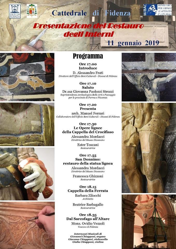 """In Cattedrale a Fidenza """"Presentazione del restauro degli Interni"""""""