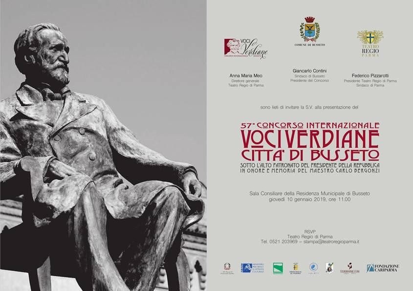 Presentazione del 57° CONCORSO INTERNAZIONALE VOCI VERDIANE CITTÀ DI BUSSETO