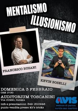 Mentalismo & Illusionismo, spettacolo organizzato da Avis Cortile S. Martino