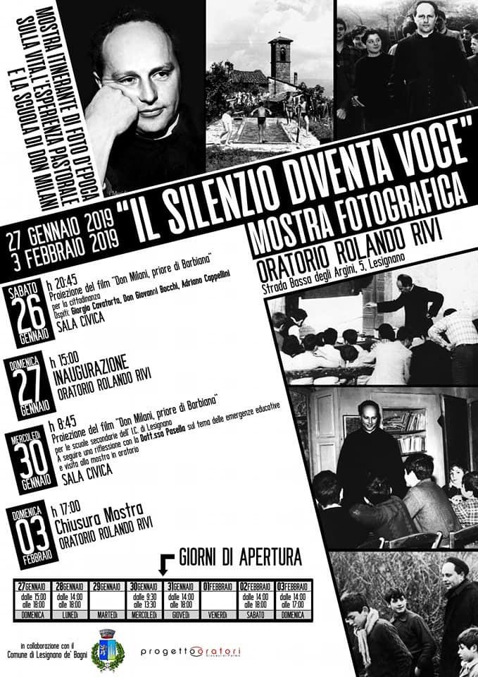 """""""il silenzio diventa voce"""" mostra fotografica  all'oratorio Rolando Riva"""