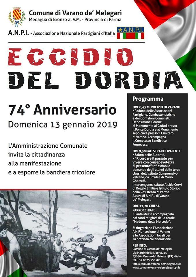 Commemorazione dell' Eccidio del Dordia