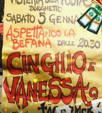 Aspettando la Befana,  serata JAGERMEISTER con la musica di CINGHIO & VANESSA all'Osteria della Posta a Borghetto