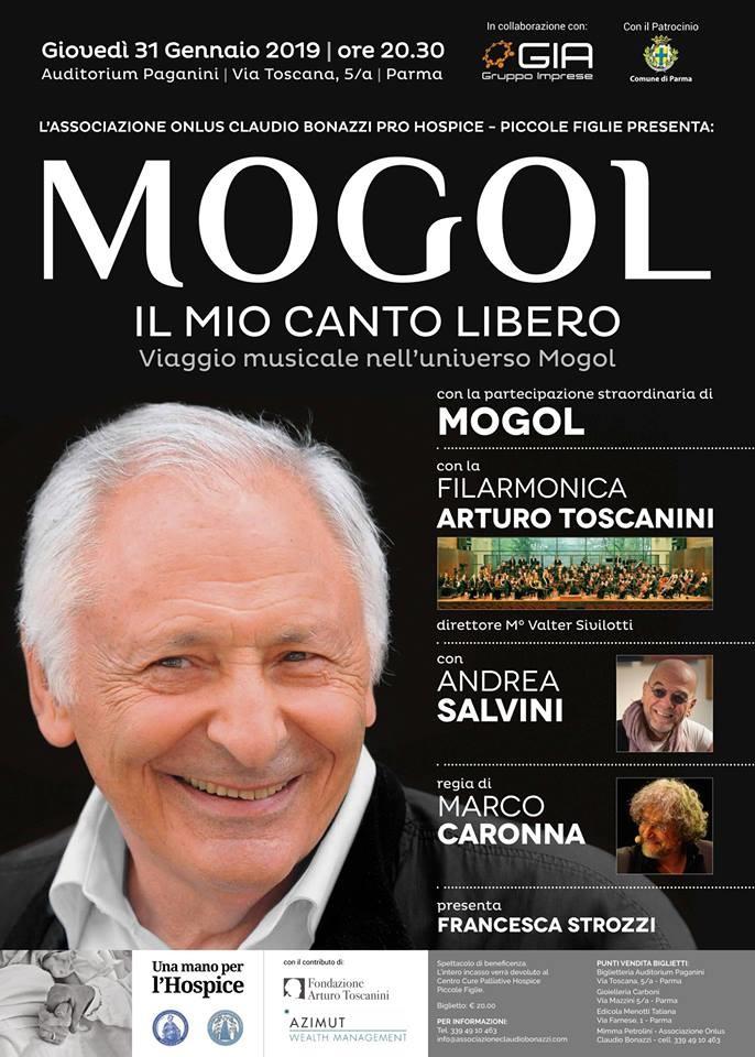 Mogol all'Auditorium Paganini  per l'Hospice Piccole Figlie