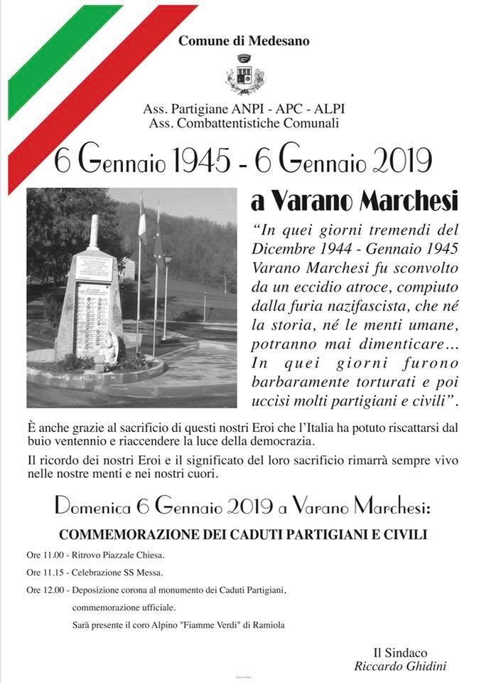 """A Varano Marchesi """"Commemorazione dei Caduti Partigiani e Civili"""""""
