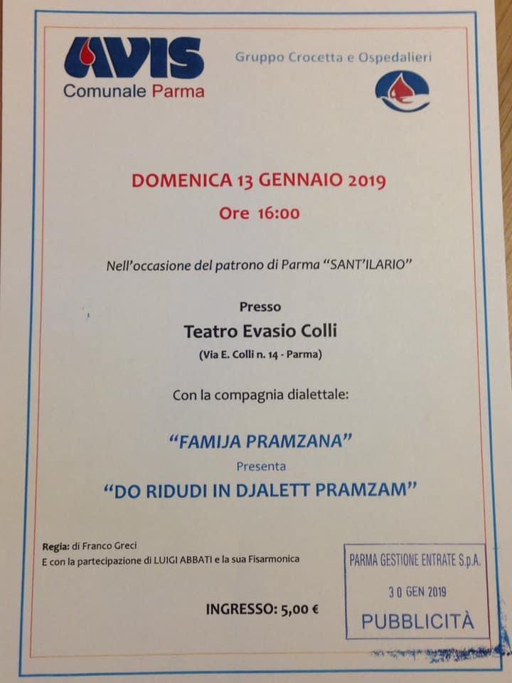 Stagione dialettale al Teatro S. Evasio: spettacolo della Famija Pramzana