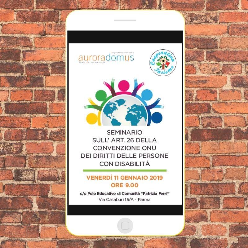 Seminario art. 26 Convenzione Onu Diritti persone con disabilità