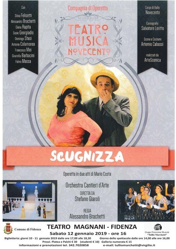 """Al Teatro Magnani di Fidenza l'operetta """"Scugnizza"""""""