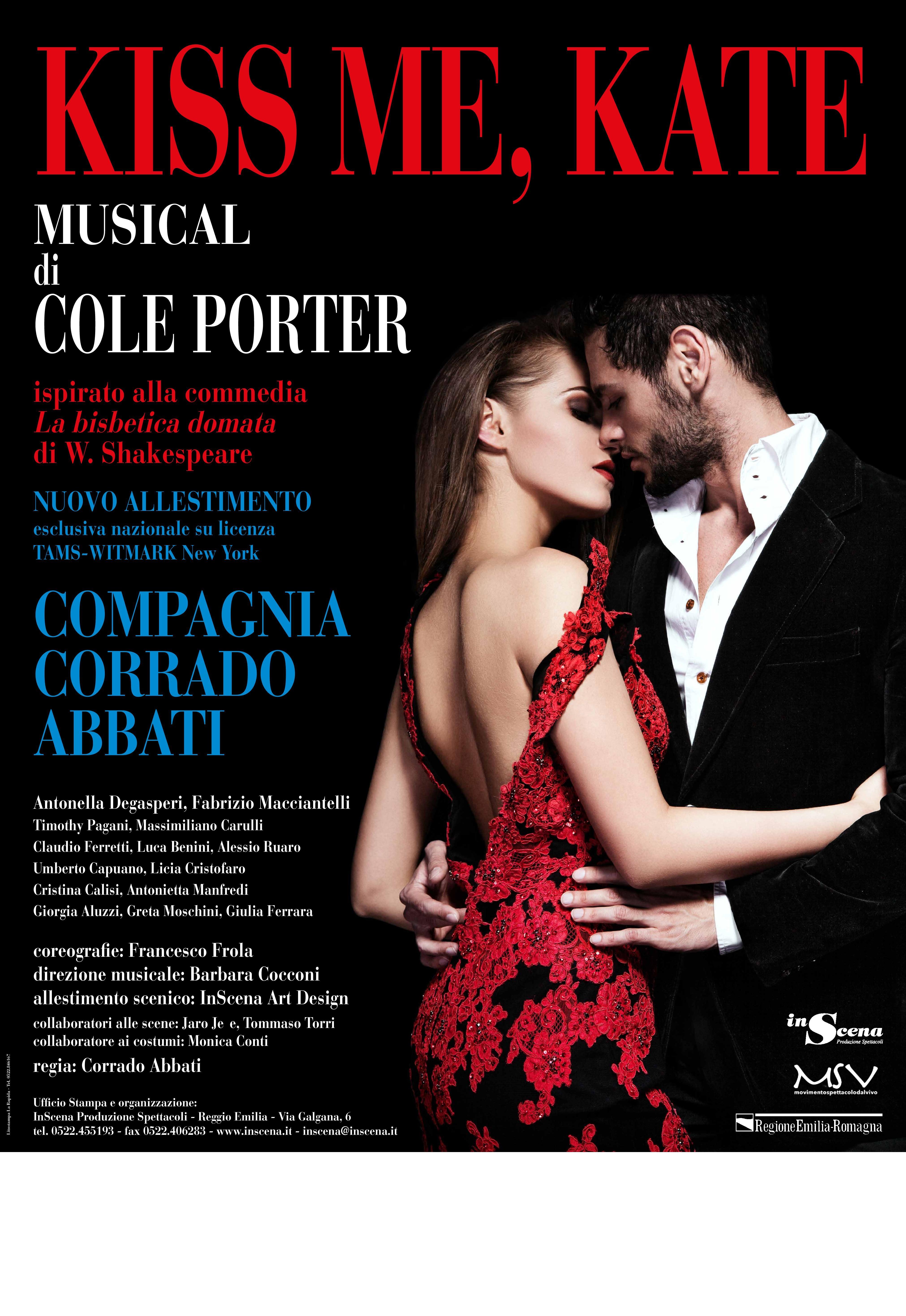 Kiss me, Kate  musical di Cole Porter con la Compagnia Corrado Abbati