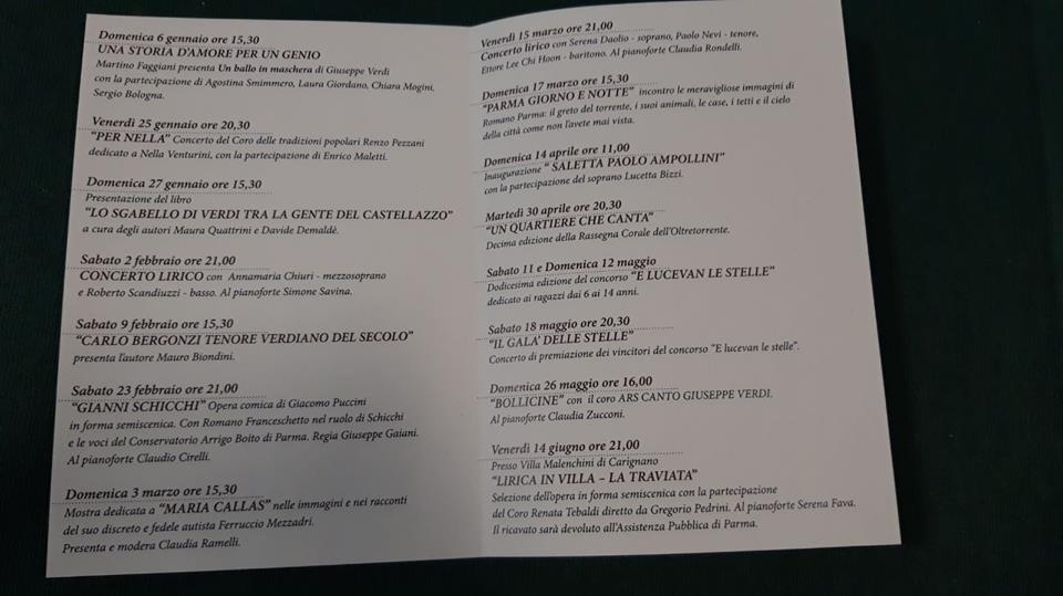 NON SOLO LIRICA, Concerti, mostre ed eventi a Parma Lirica