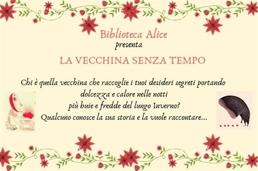 La Vecchina senza Tempo alla biblioteca di Alice