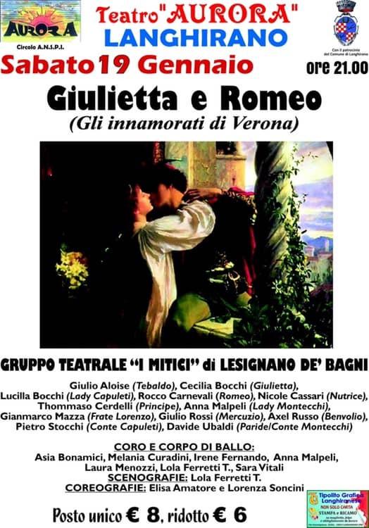 """""""Giulietta e Romeo"""" al Teatro Aurora di Langhirano"""