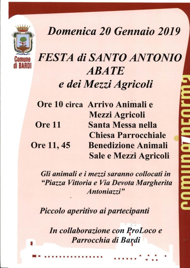 Festa di S.Antonio e dei mezzi agricoli a Bardi