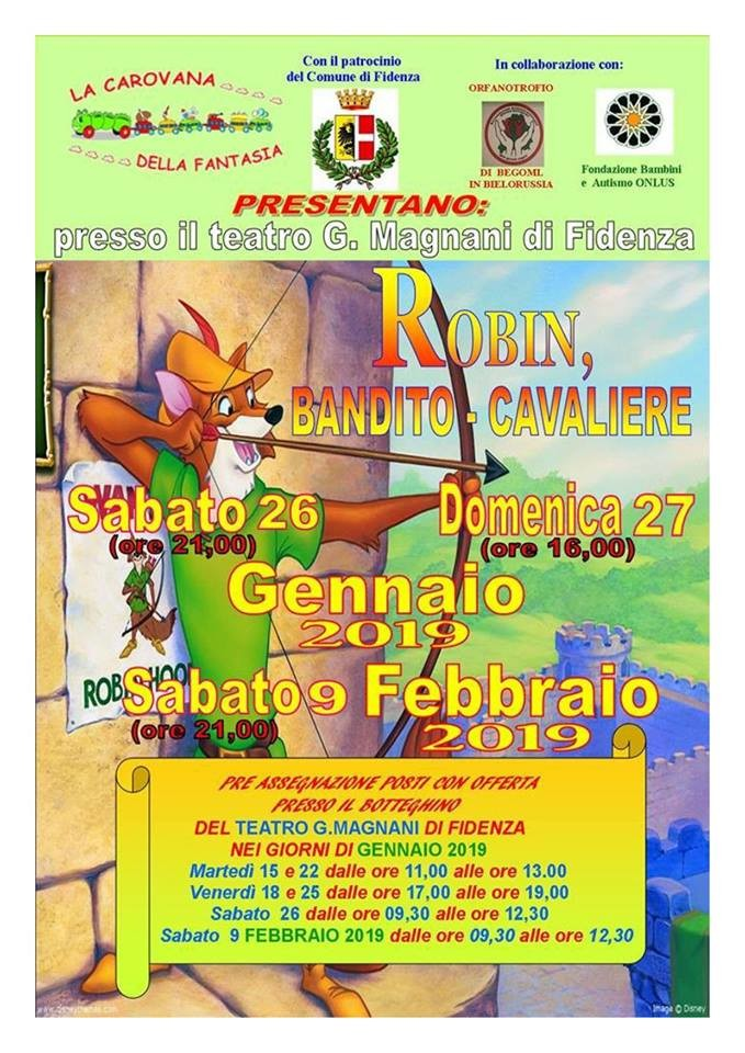 ROBIN, BANDITO-CAVALIERE al Teatro Magnani di Fidenza