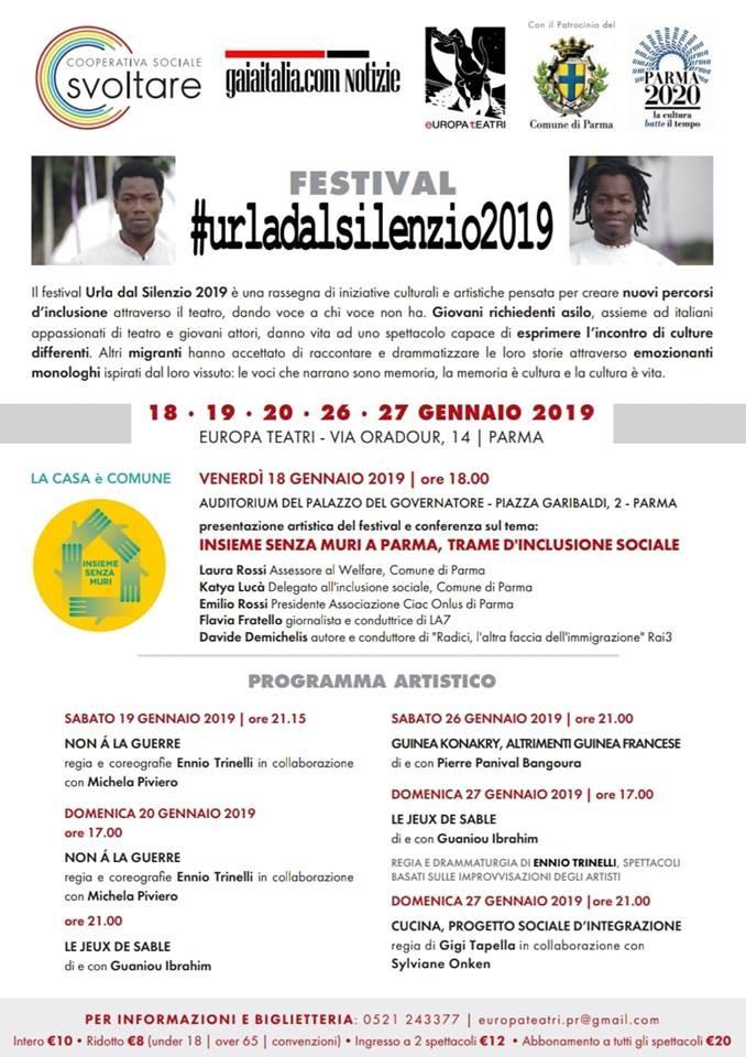 """Urla dal Silenzio 2019"" ad Europa Teatri"