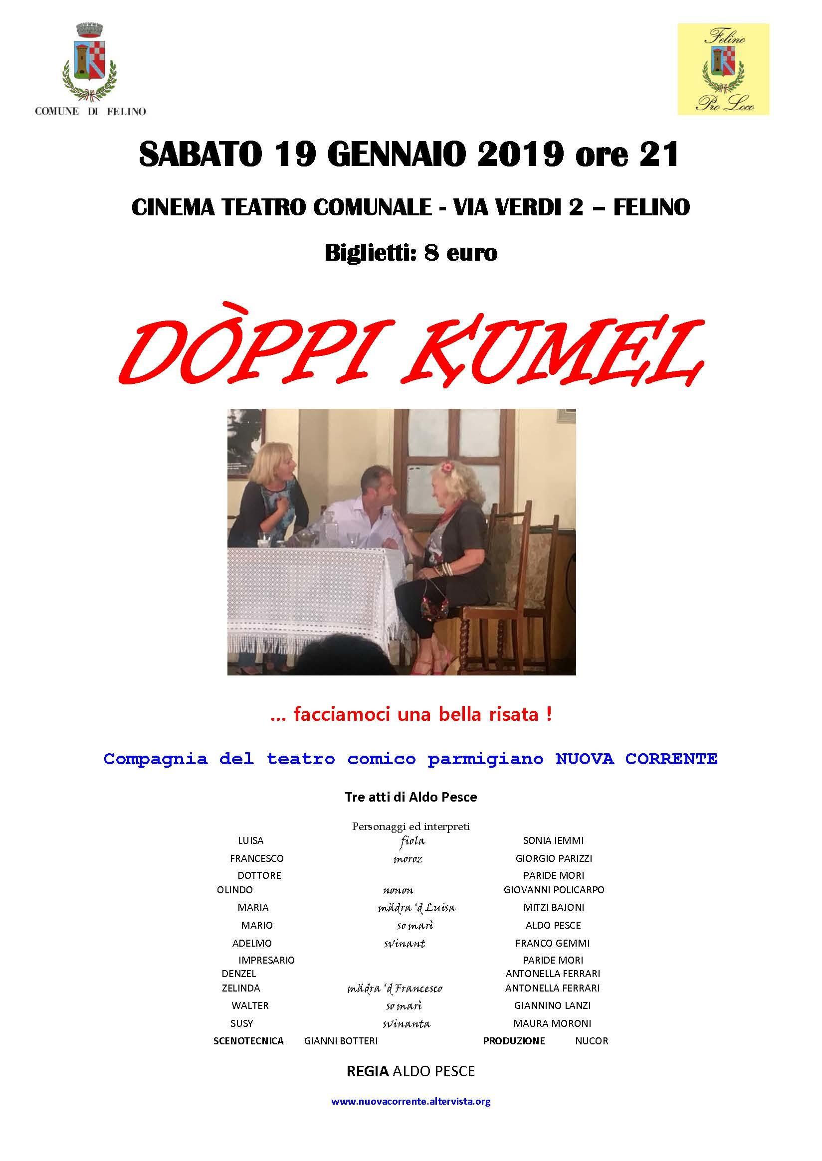 """""""Doppi Kùmel"""" della compagnia Nuova Corrente a Felino"""