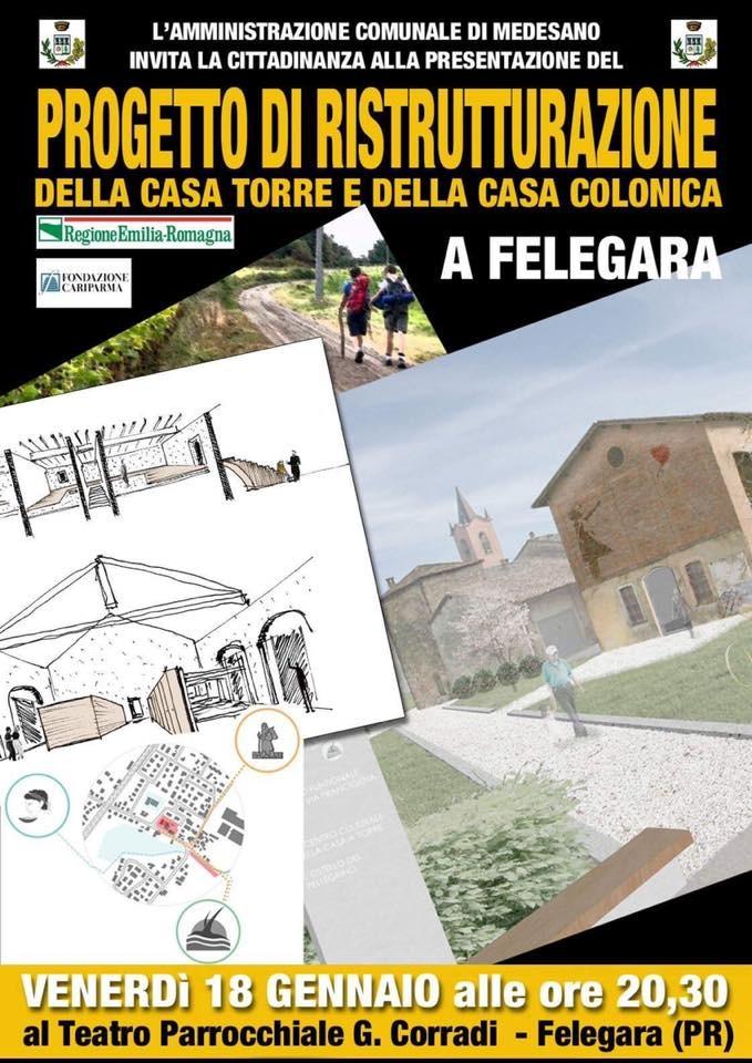 Presentazione del progetto di ristrutturazione della Casa Torre e della Casa Colonica.