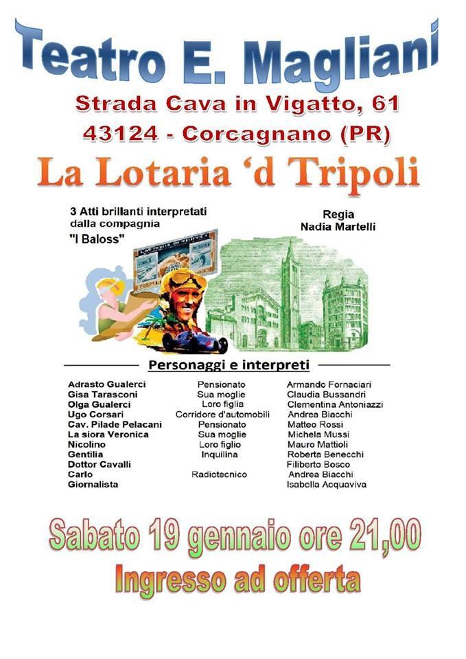 La Lotaria 'd Tripoli al Teatro Ennio Magliani