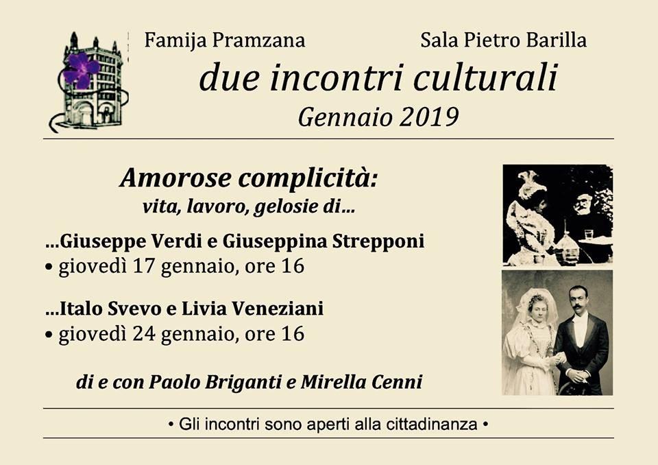 Incontri in  Famija Pramzana: Italo Svevo e Livia Veneziani