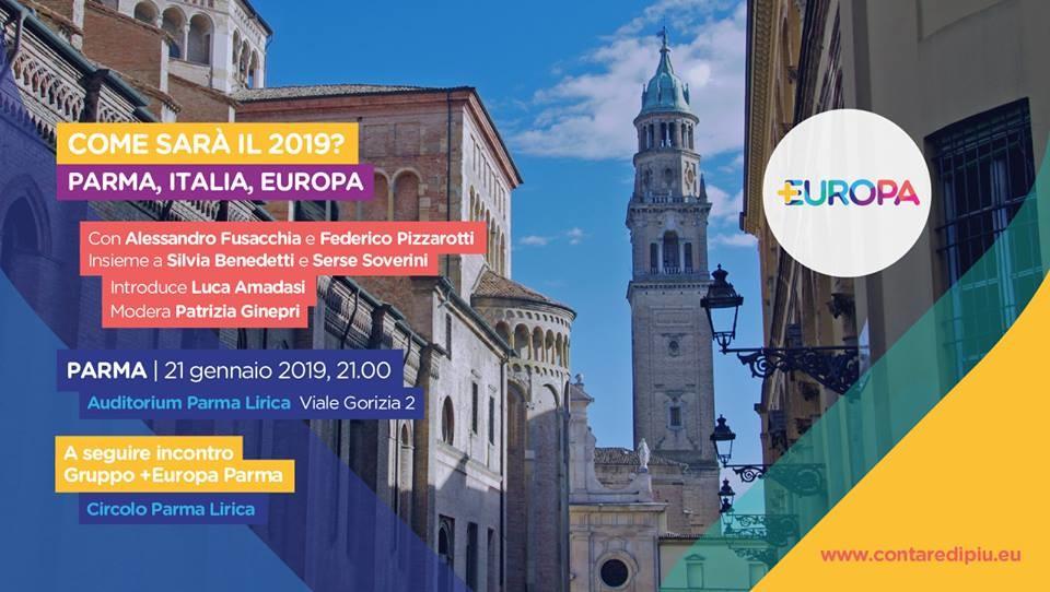 Come sarà il 2019 a Parma, in Italia e in Europa? Incontro con Federico Pizzarotti