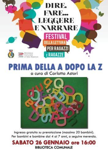 """""""Prima della A dopo la Z"""": giocare con lettere e parole"""