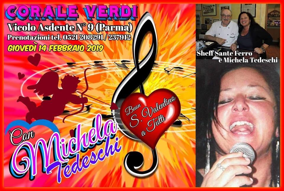 S VALENTINO...14 FEBBRAIO GRANDE SERATA CON LA MIKY AL RISTORANTE CORALE VERDI