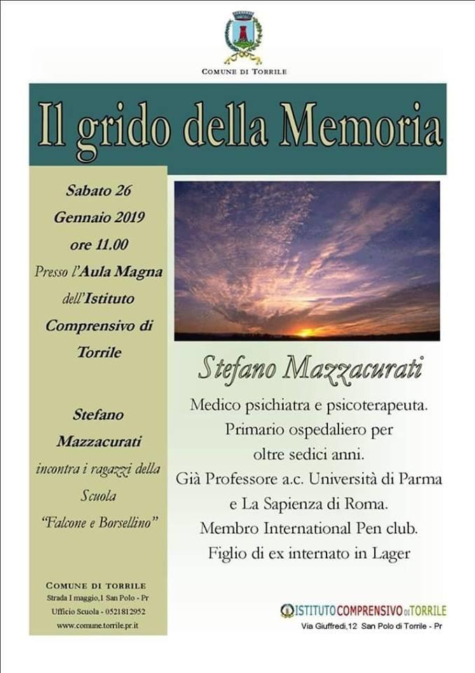 Il grido della memoria, incontro con Stefano Mazzacurati