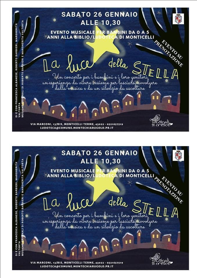 LA LUCE DELLA STELLA, narrazione musicale per bambini
