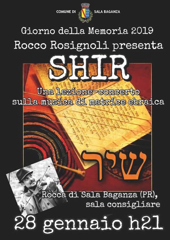 Per il Giorno Della Memoria : lezione-concerto sulla musica di matrice ebraica di Rocco Rosignoli, cantautore.