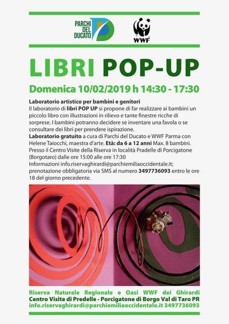 LIBRI POP UP  Laboratorio artistico per bambini e genitori  all'Oasi dei Ghirardi