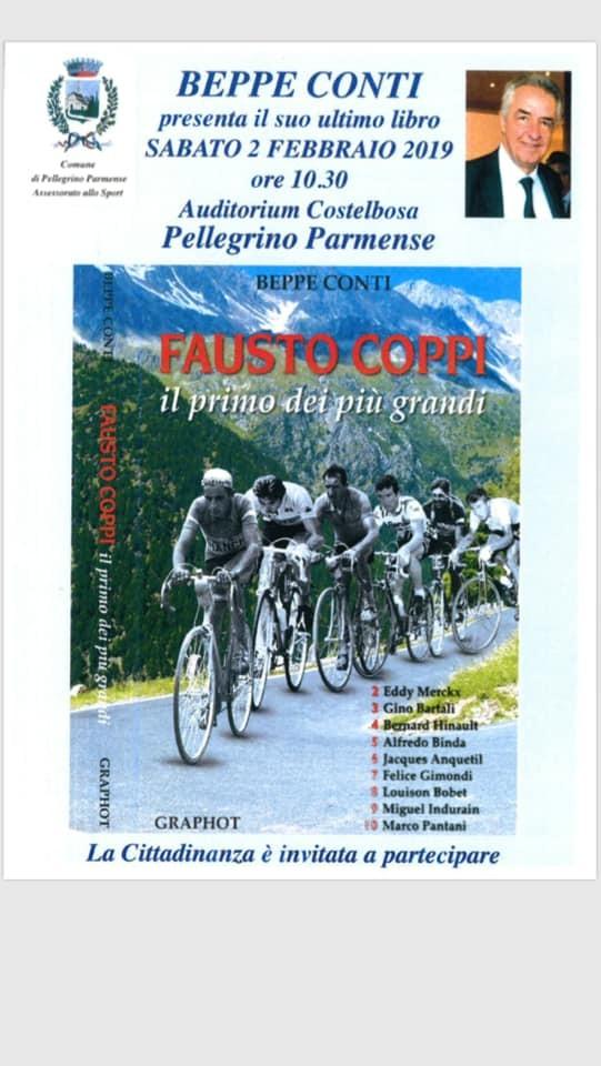 Beppe Conti presenta il suo libro su Coppi a Pellegrino Parmensi