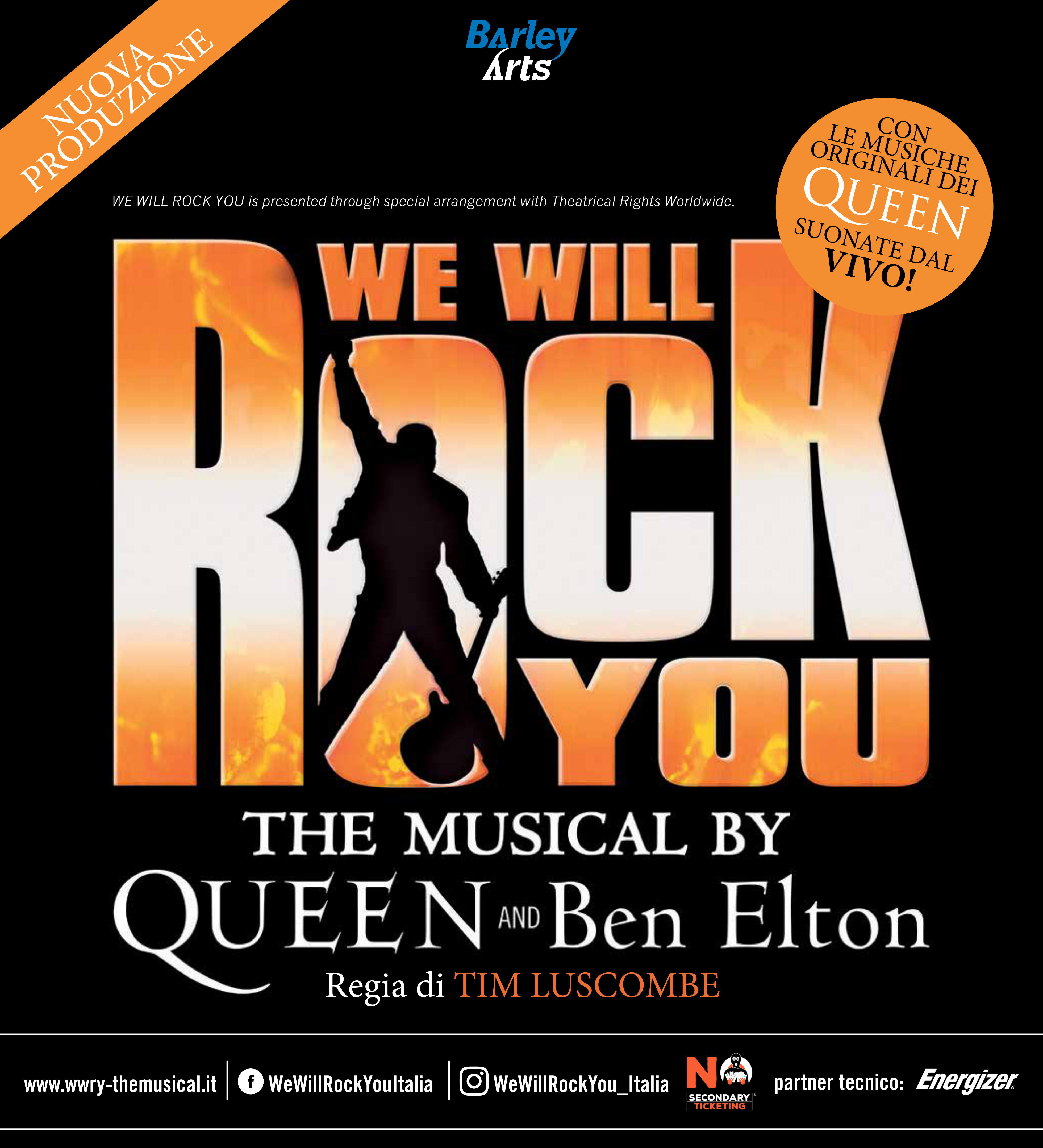"""WE WILL ROCK YOU"" THE MUSICAL by QUEEN  and BEN ELTON  al Teatro Regio"