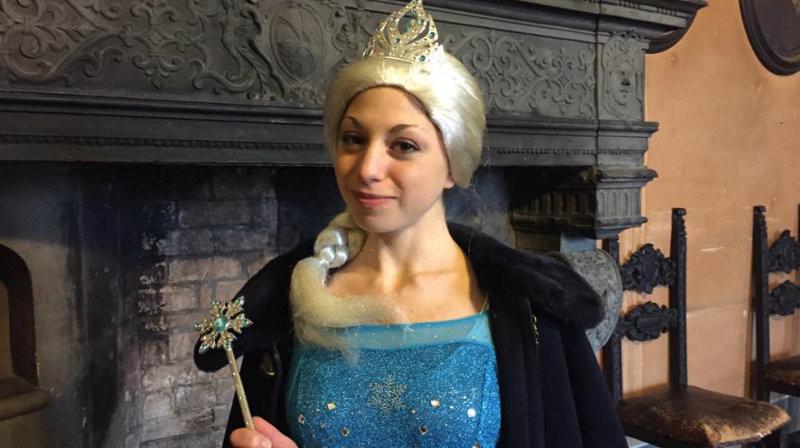 Il Castello di ghiaccio a Fontanellato con la regina della neve