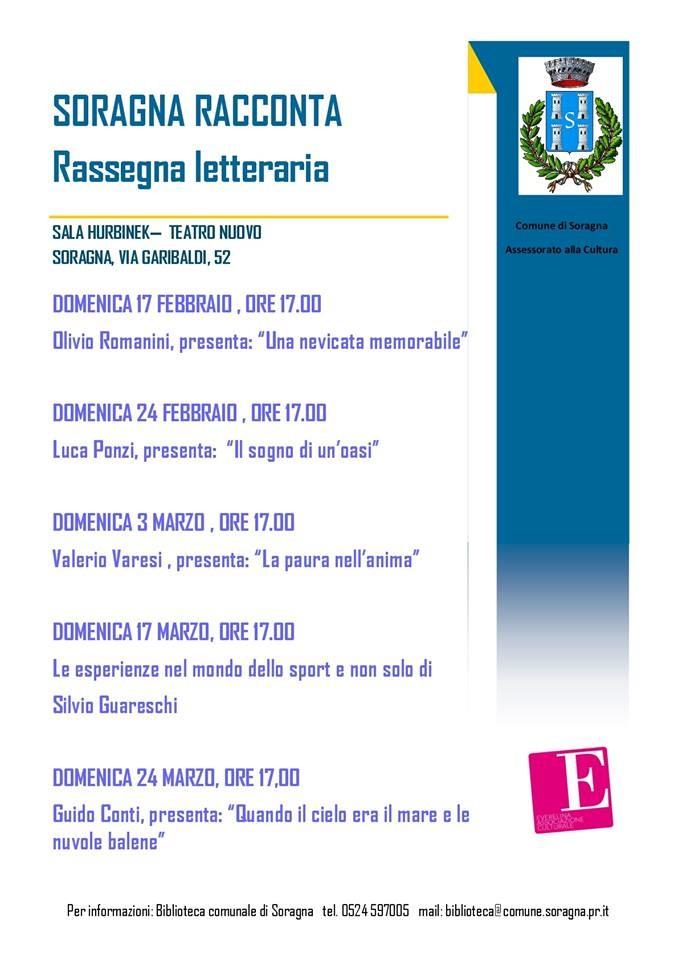 """Soragna Racconta"",rassegna letteraria"