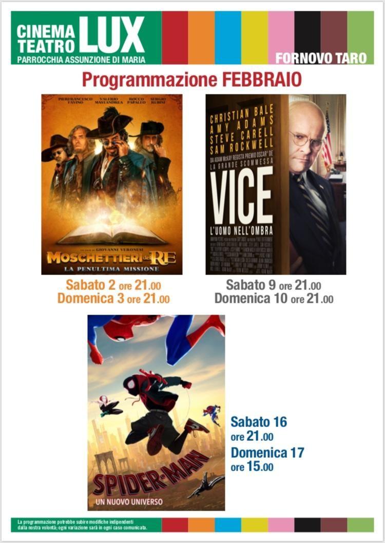 I moschettieri del re al Cinema Lux Fornovo