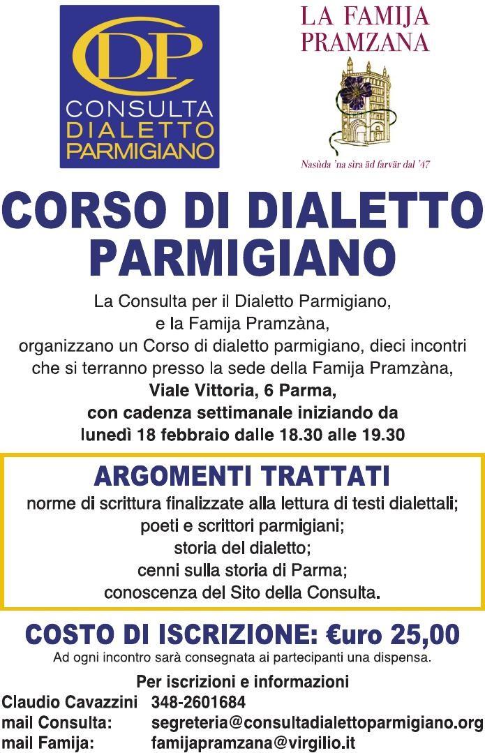 Corso di dialetto in Famija Pramzana