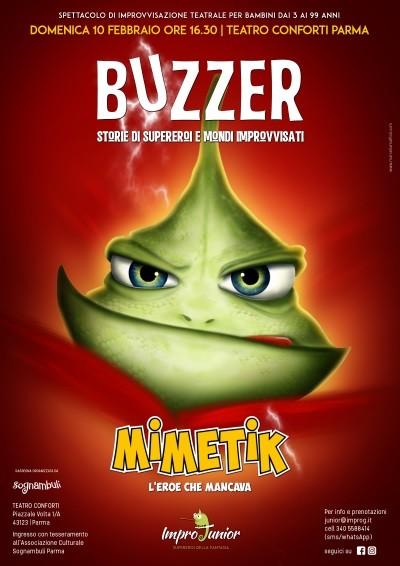 Buzzer - Storie di supereroi e di mondi improvvisati al Teatro Conforti