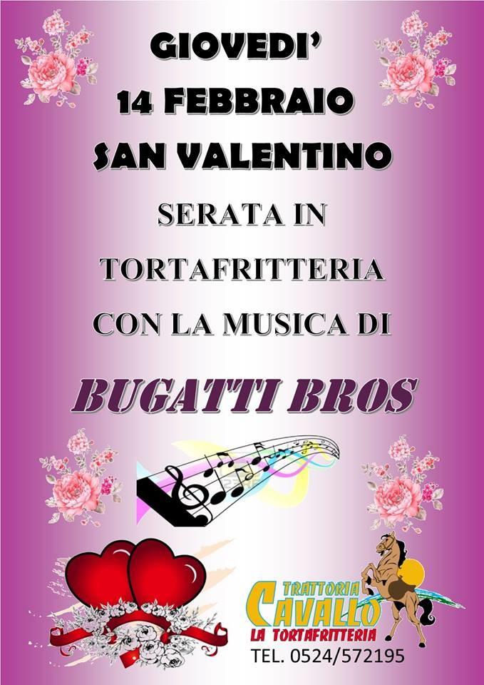 San Valentino in Tortafritteria con la musica di Bugatti Bros