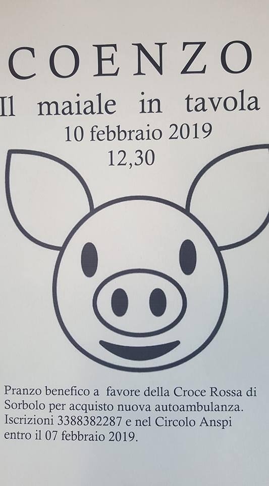 Il maiale a tavola a Coenzo