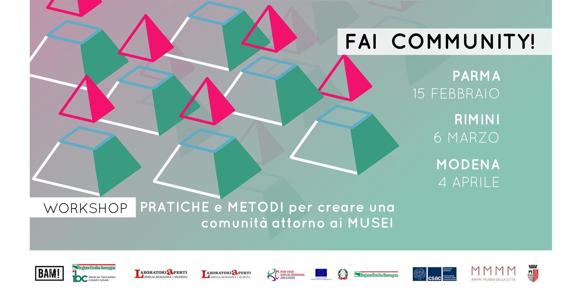 Fai community!  Il primo workshop verso Museomix 2019 allo CSAC