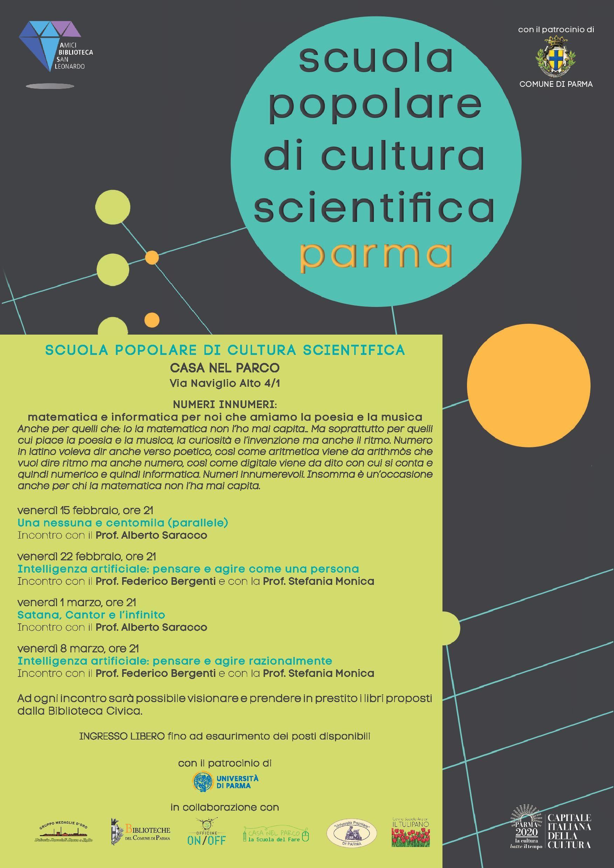 Ciclo di incontri della Scuola Popolare Cultura Scientifica.