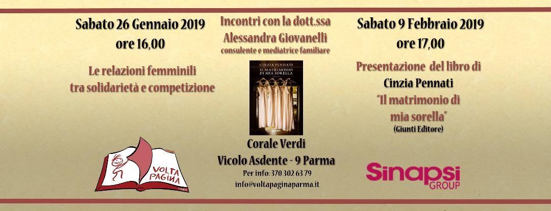 """Presentazione del libro  di Cinzia Pennati """"Il matrimonio di mia sorella"""""""