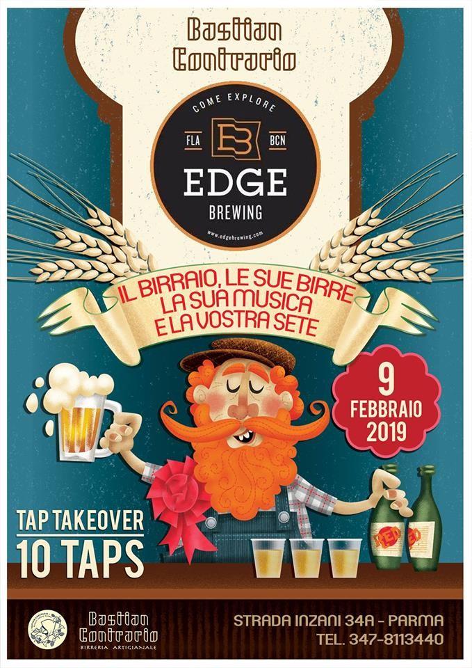 Taptakeover con birrificio EDGE -Catalogna  al Bastian Contrario