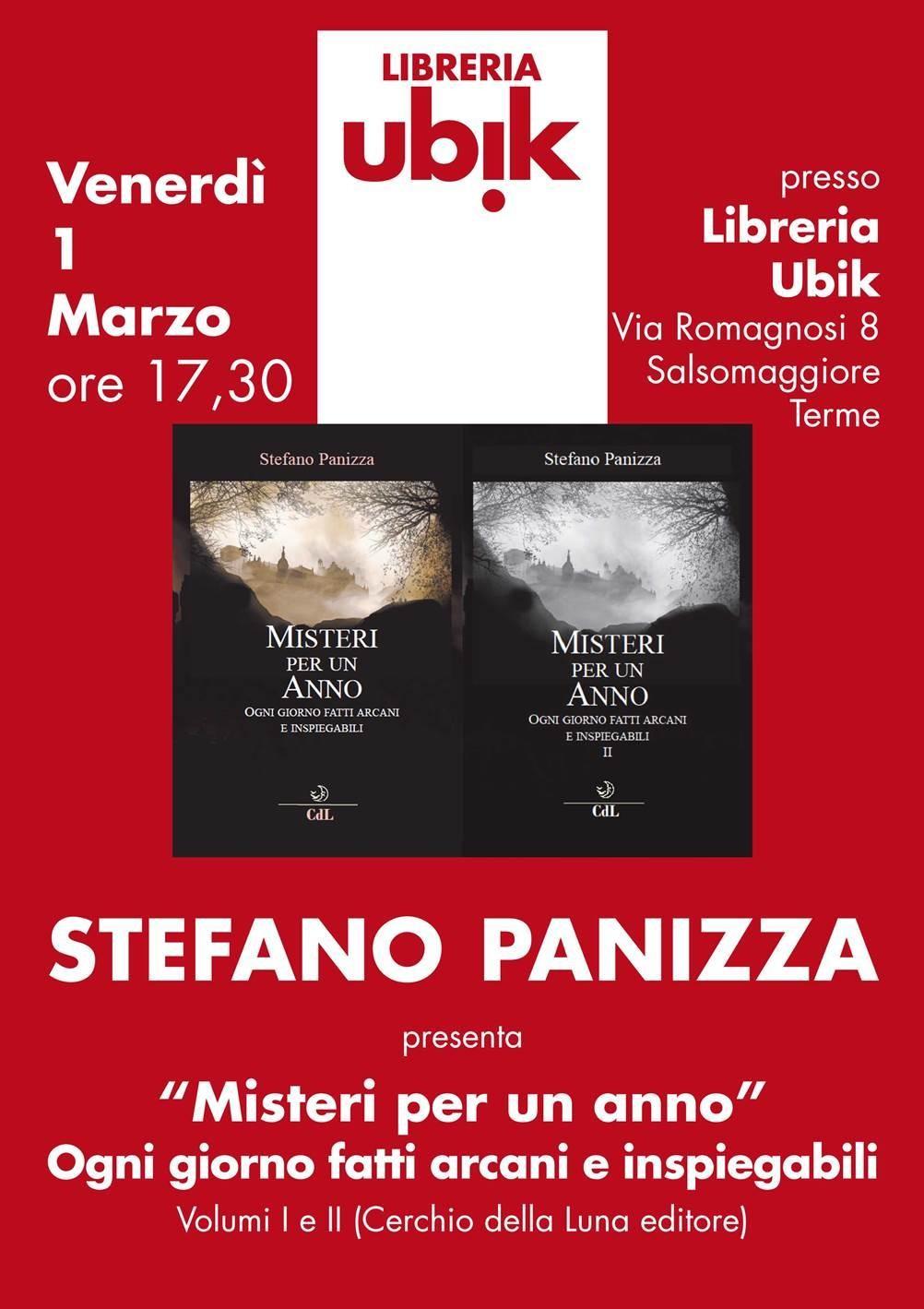 """""""Misteri per un anno"""" di Stefano Panizza alla libreria Ubik"""