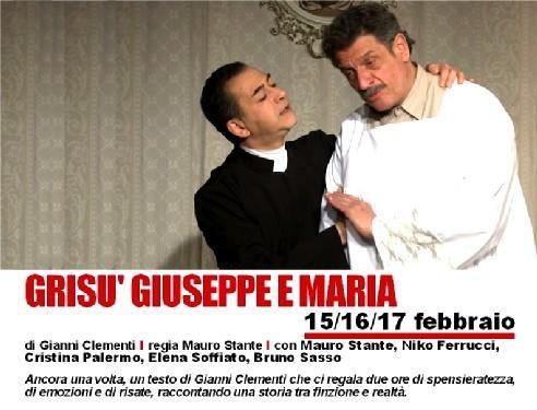 Promozione spettacolo GRISU' GIUSEPPE E MARIA al TEATRO PEZZANI