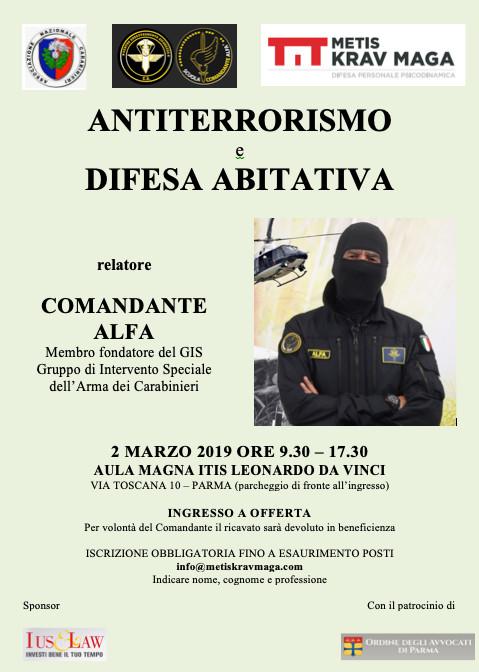 Antiterrorismo e difesa abitativa col comandante Alfa