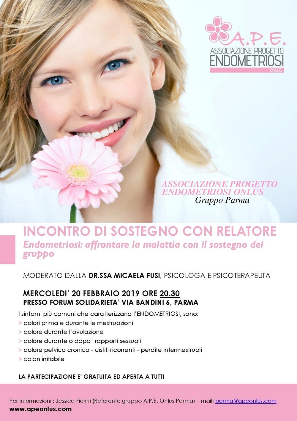Associazione Progetto Endometriosi, incontro di sostegno