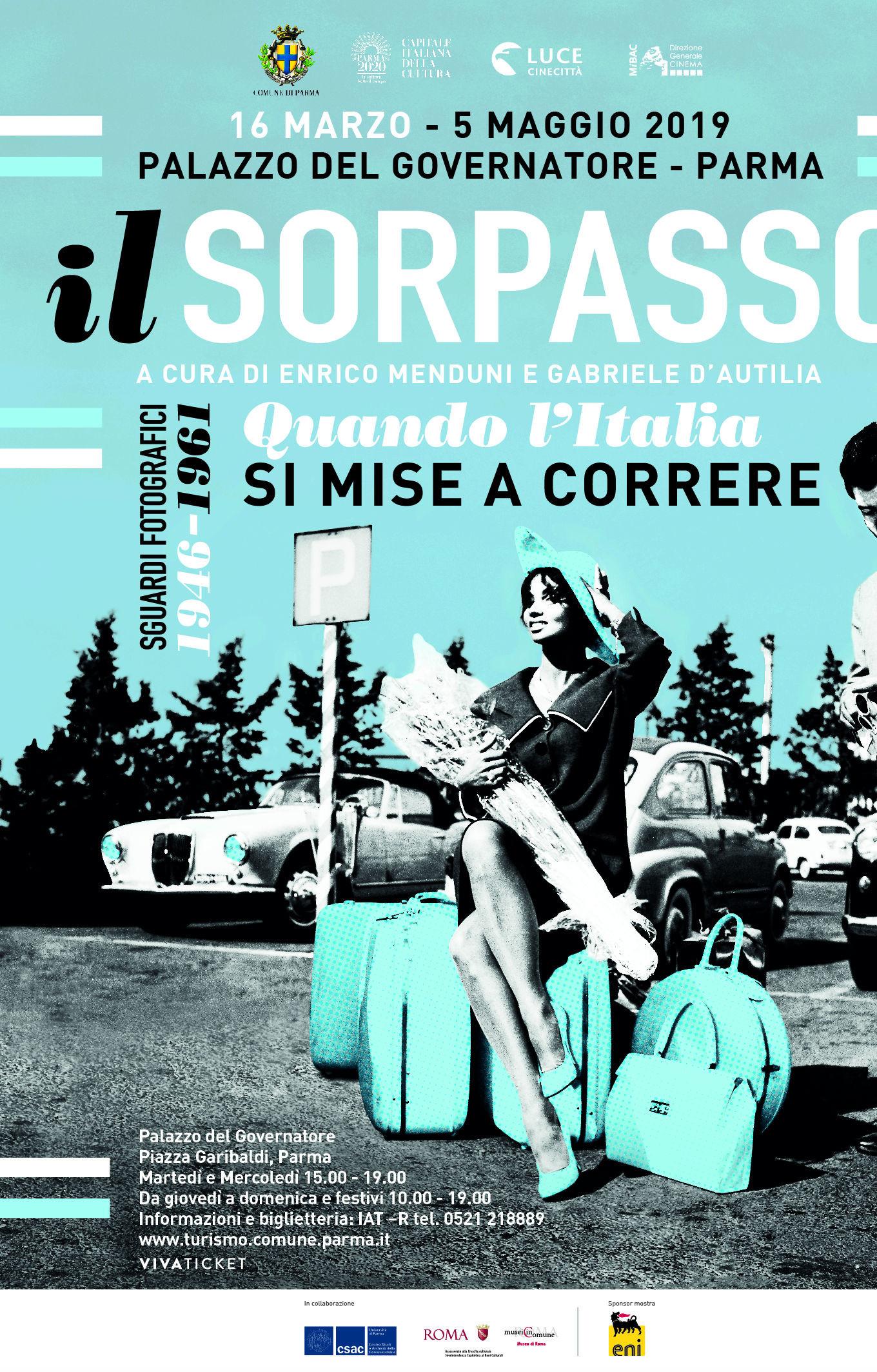 """""""Ilsorpasso. Quando l'Italia si mise a correre, 1946-1961"""", mostra fotografica a Palazzo del Governatore"""