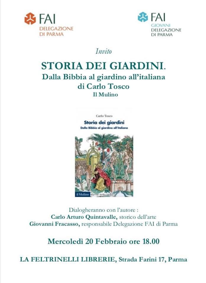 """Presentazione di """"Storie dei Giardini - Dalla Bibbia al giardino all'italiana"""" di Carlo Tosco"""