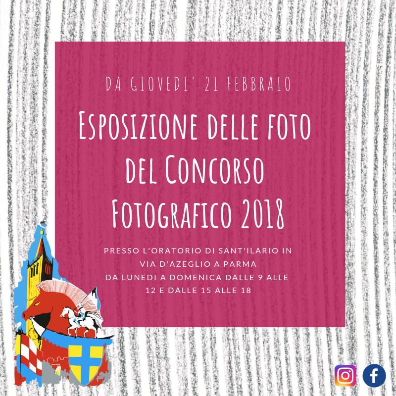 Esposizione delle fotografie che hanno partecipato al concorso fotografico del Palio di Parma 2018
