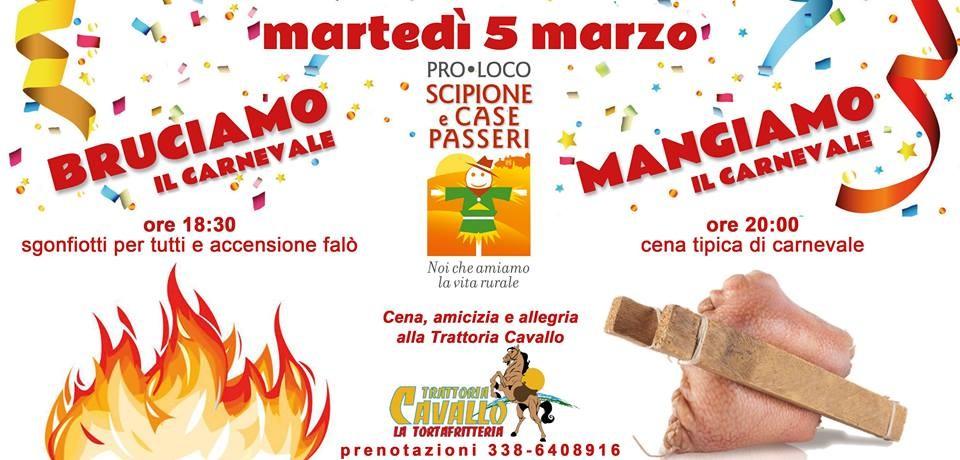 Falò di Carnevale a Scipione